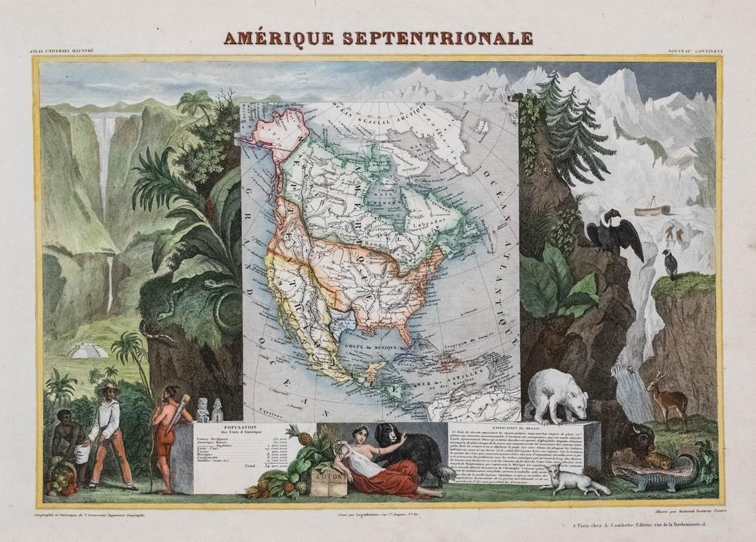 Levasseur: Antique Map of North America, 1840