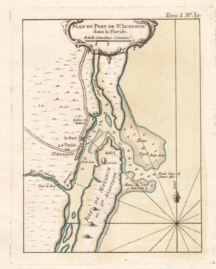 Bellin: Antique Plan of St. Augustine, Florida, 1764