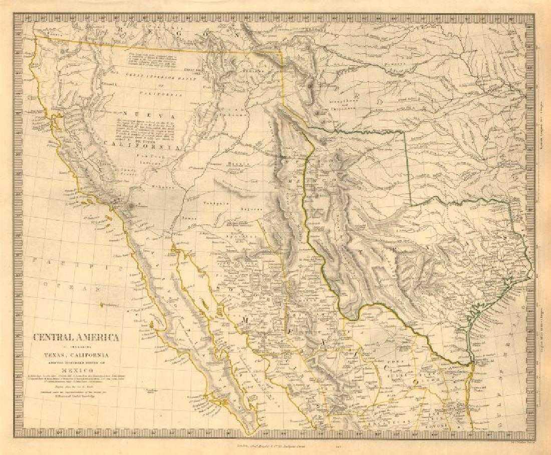 Southwestern Usa Map.Sduk Antique Map Of Southwestern Usa 1846