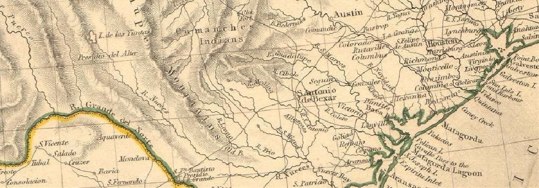 SDUK: Antique Map of Southwestern USA, 1846 - 2