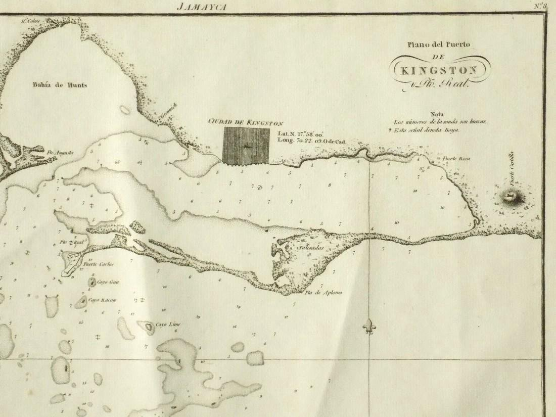 de Ferrer: Antique Map of Kingston, Jamaica, 1818 - 3