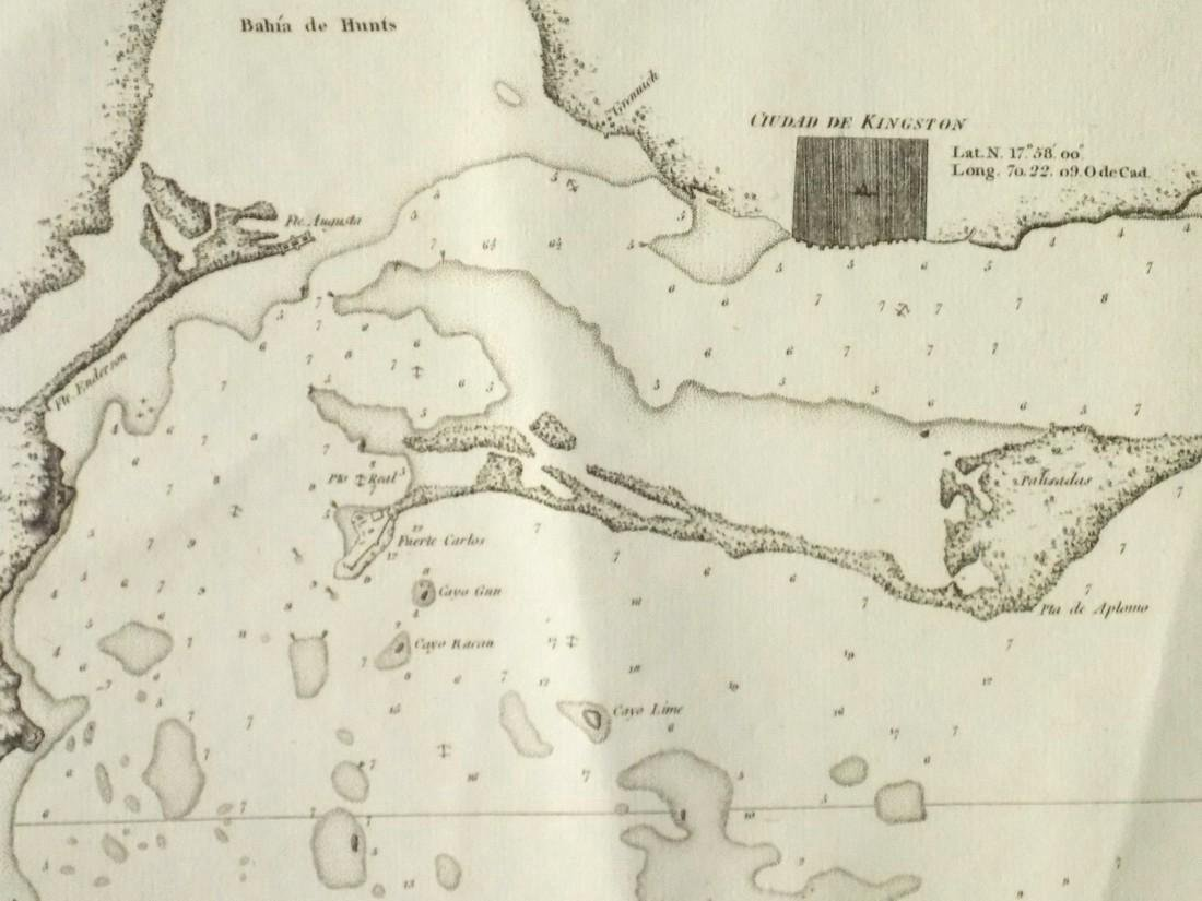 de Ferrer: Antique Map of Kingston, Jamaica, 1818 - 6