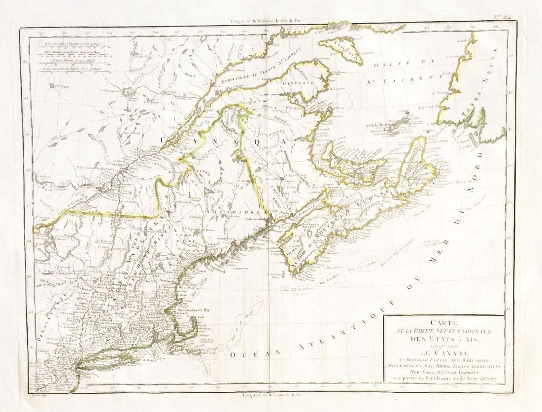 Tardieu: Antique Map of Northern U.S & Canada, 1798