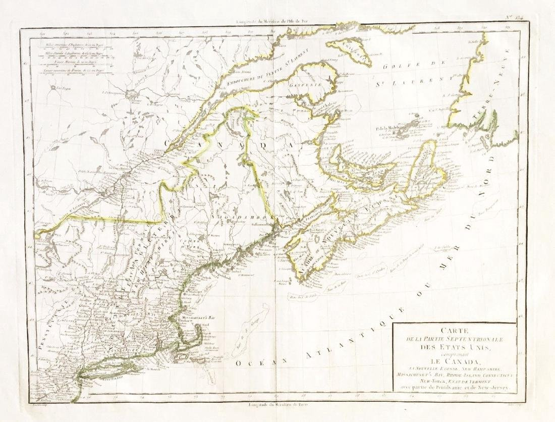 Tardieu: Antique Map of Northern U.S & Canada, 1798