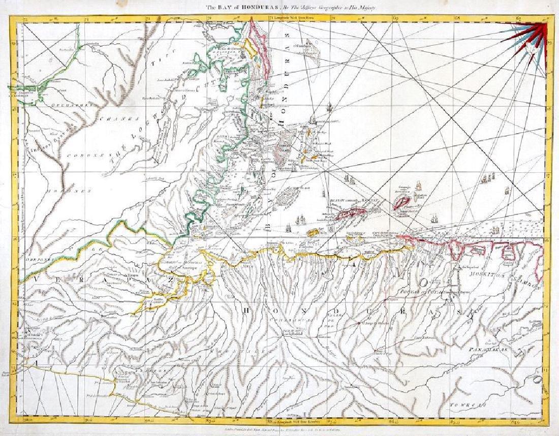 Jefferys / Sayer: Antique Map of Bay of Honduras, 1775