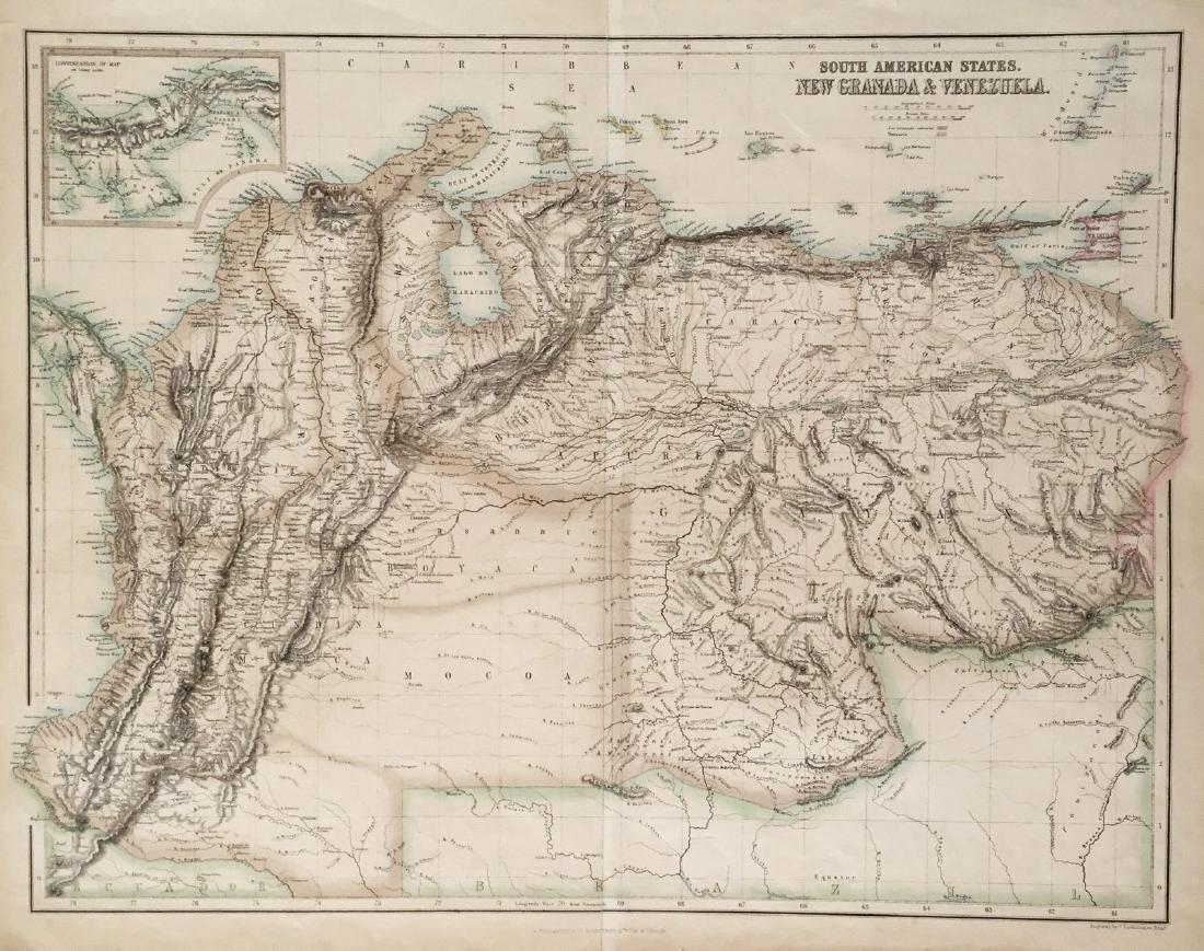 Fullarton: Antique Map of New Granada, 1862