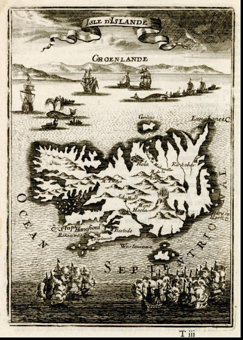 Mallet: Antique Map of Iceland & Greenland, 1683