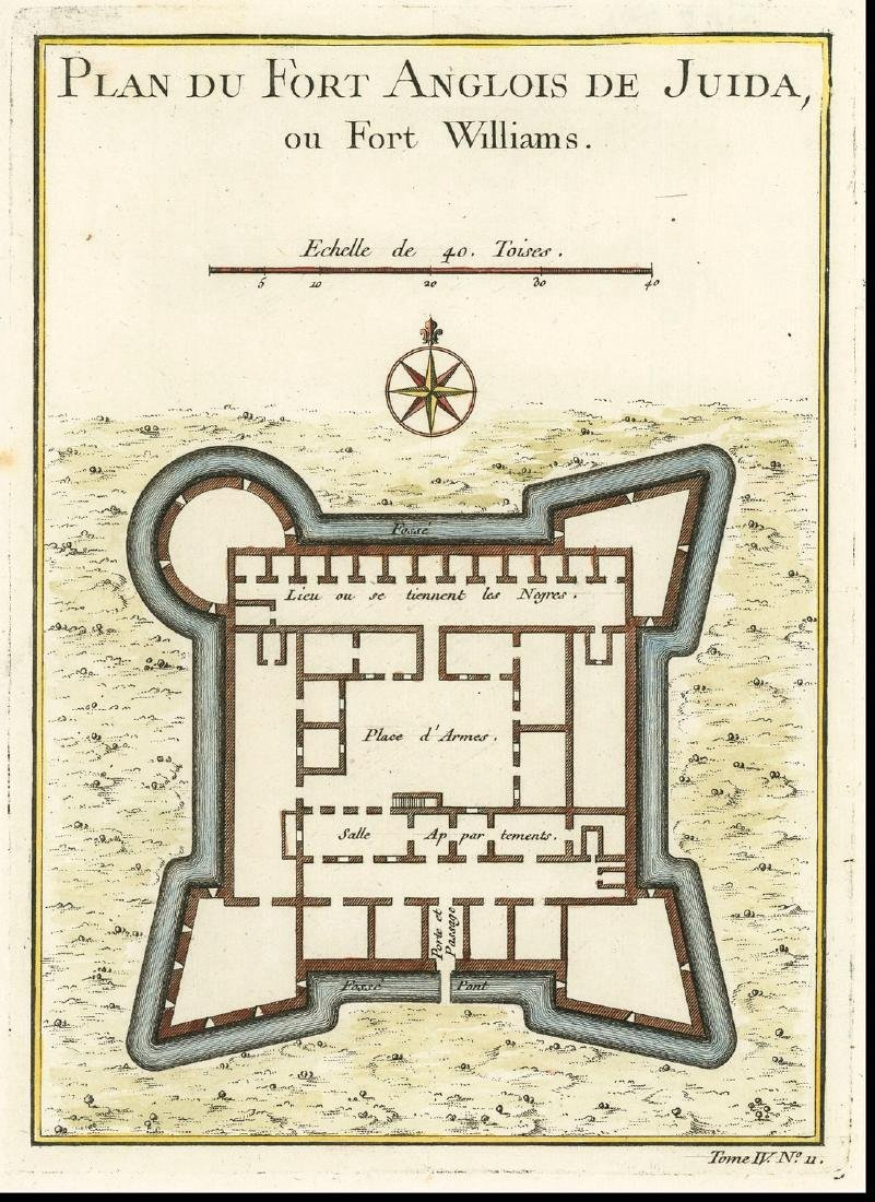 Belling: Antique Plan of Fort Williams, 1747