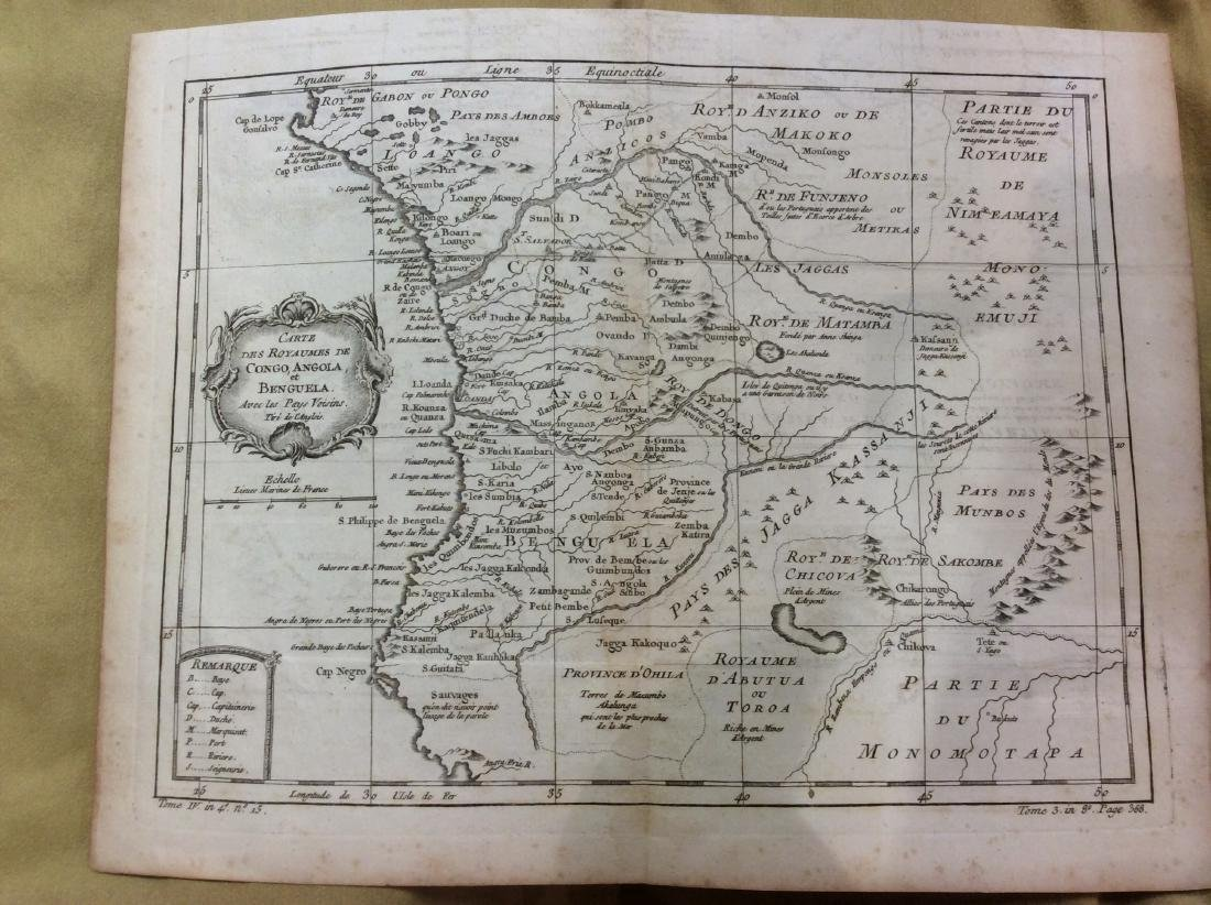 Bellin: Antique Map of Angola and Congo, 1750