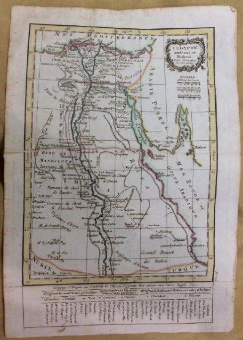 Lattre: Antique Map of Ancient Egypt, 1791