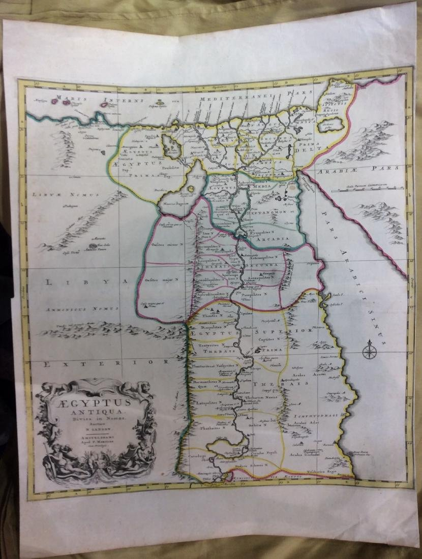 Mortier: Antique Map of Ancient Egypt, 1705