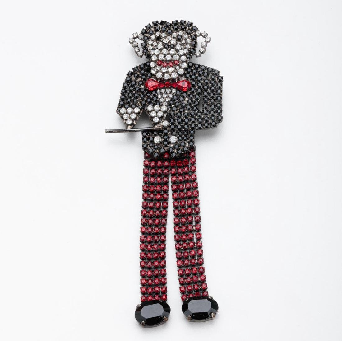 BUTLER & WILSON COCKTAIL WAITER MONKEY BROOCH