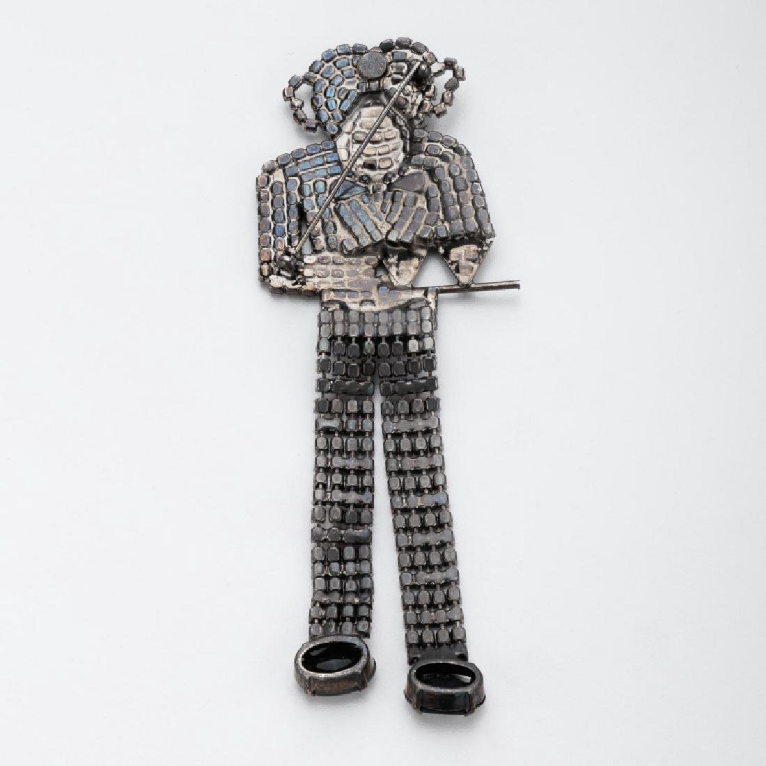 BUTLER & WILSON COCKTAIL WAITER MONKEY BROOCH - 2