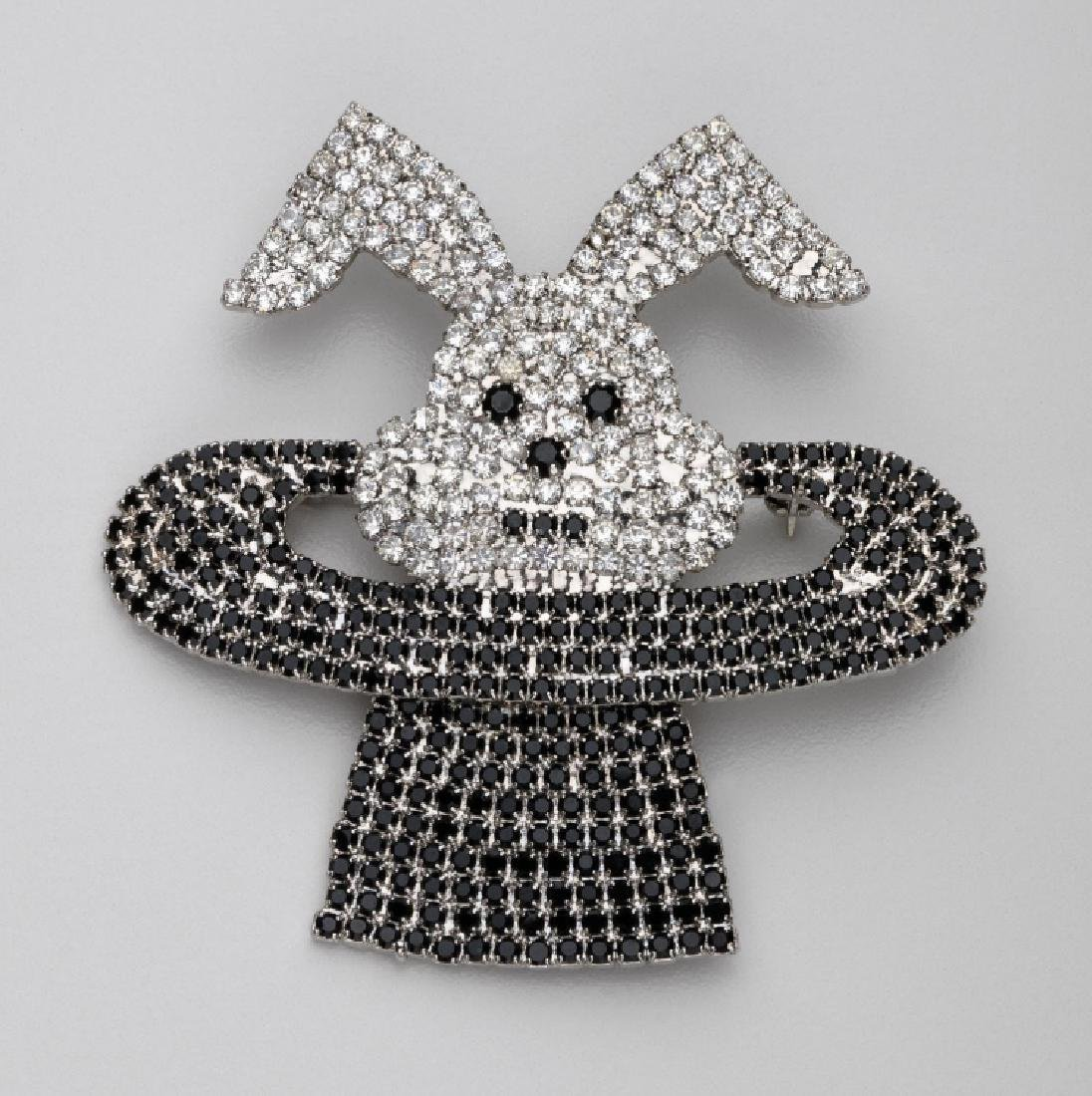 BUTLER & WILSON RHINESTONE BUNNY IN A MAGICIANS HAT