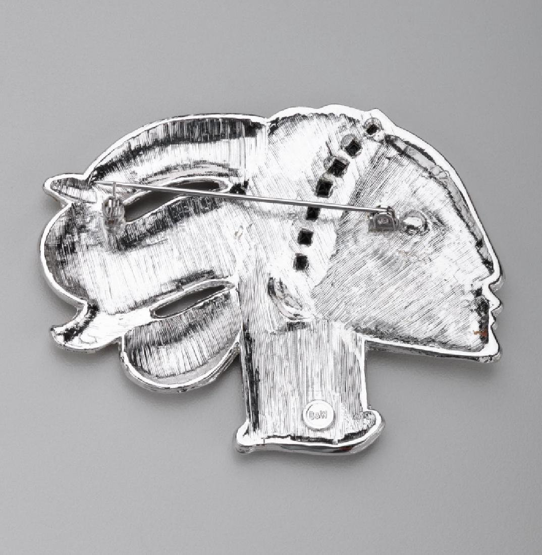 BUTLER & WILSON WOMAN IN PROFILE BROOCH - 2