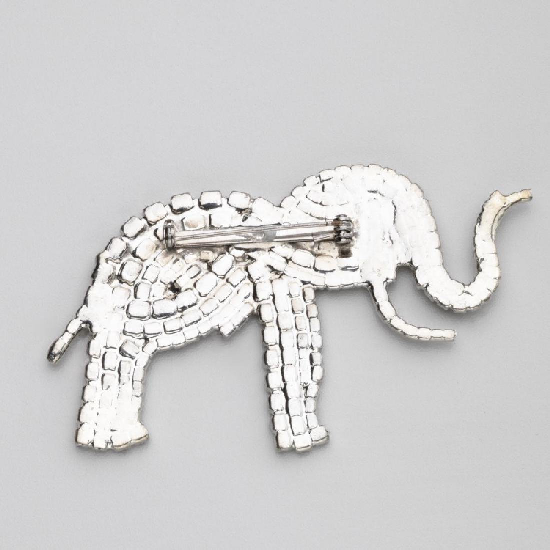 SPARKLING ELEPHANT PROFILE BROOCH, ATTRIBUTED TO BUTLER - 2