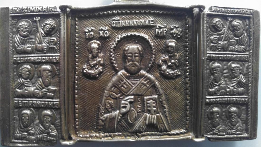 Bronze Triptych of Saint Nicholas - 4