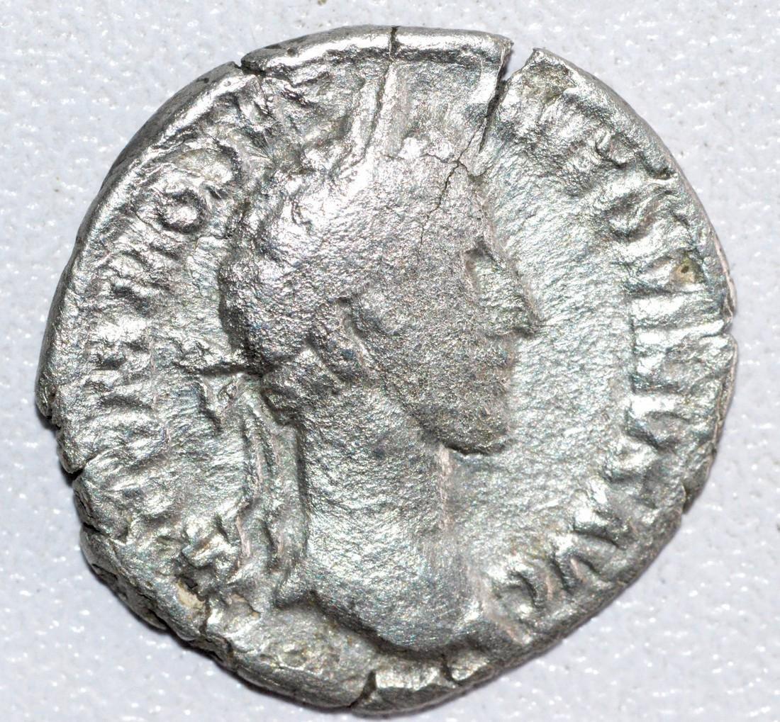Ancient Roman Silver Denarius of Emperor Commodus