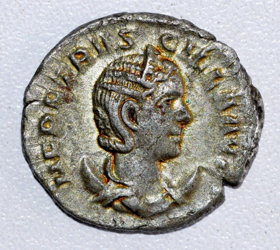 Ancient Roman Antoninianus of Empress- Herennia Etrusci