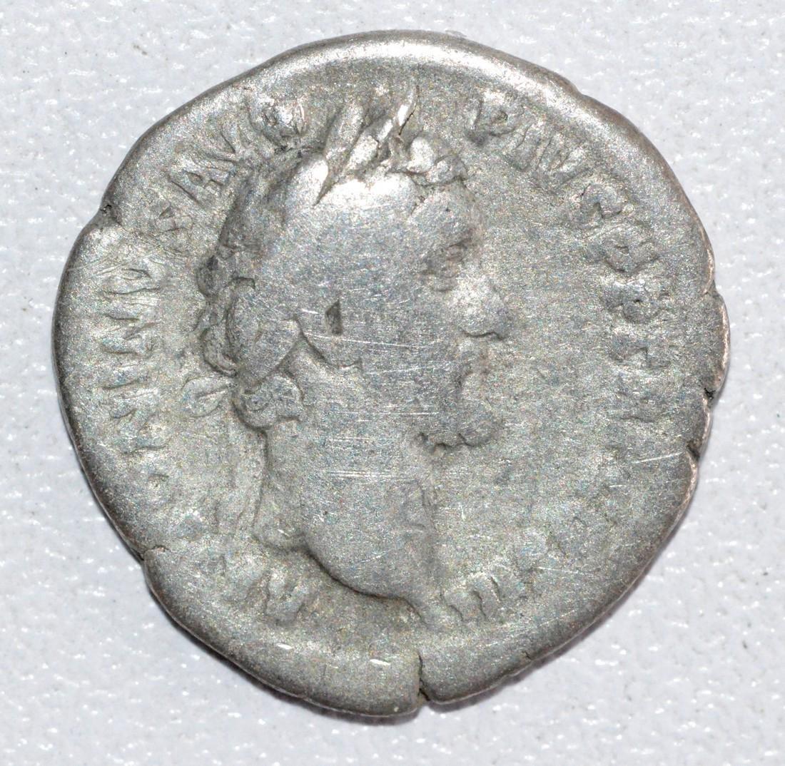 Ancient Roman Silver Denarius of Emperor Antoninus