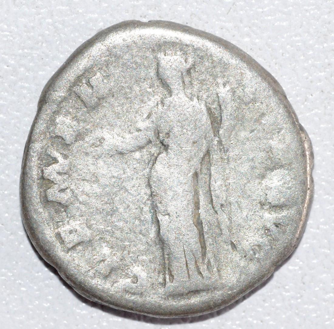Ancient Roman Silver Denarius of Emperor Antoninus - 2