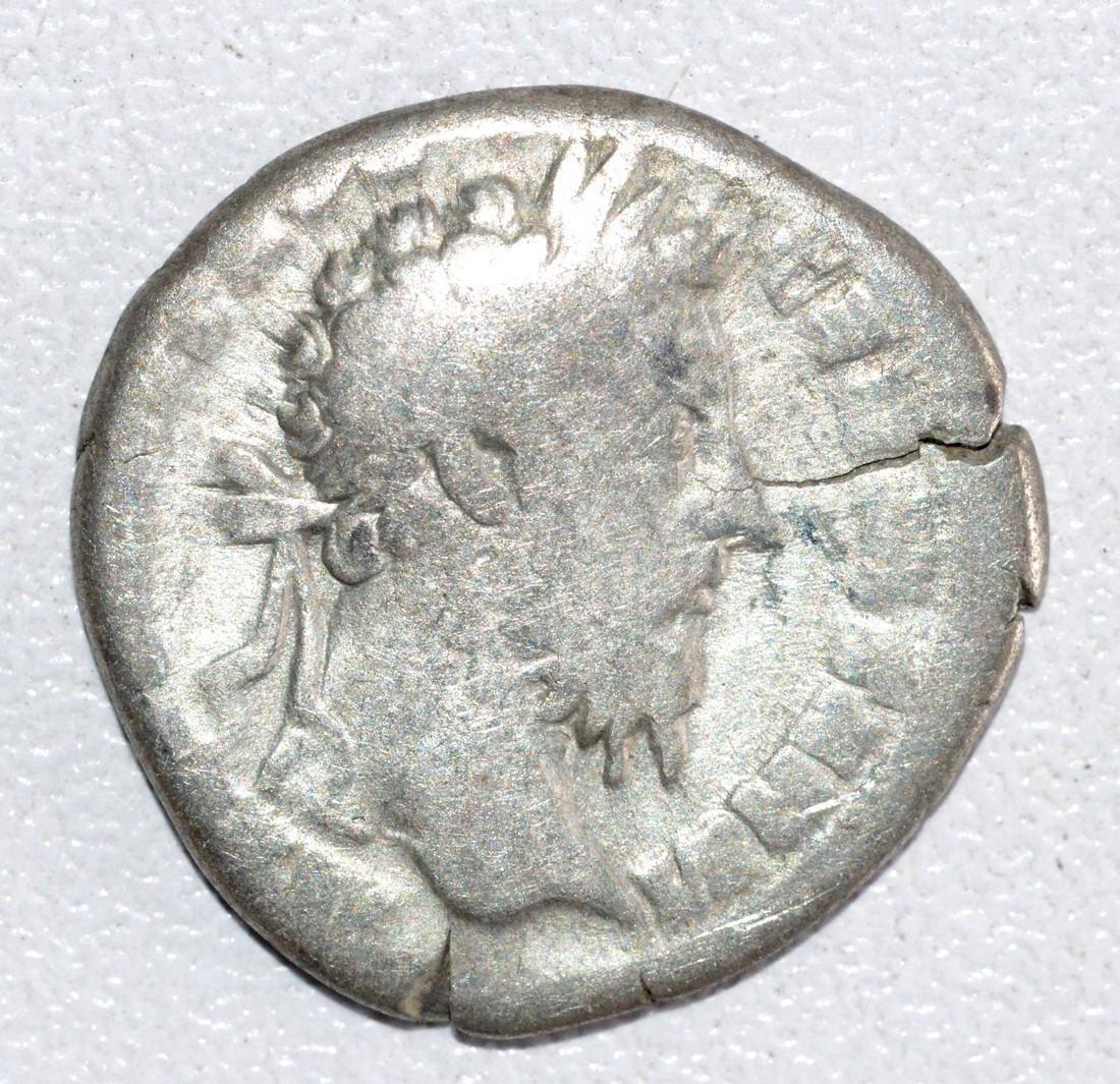 Ancient Roman Silver Denarius of Emperor Marcus