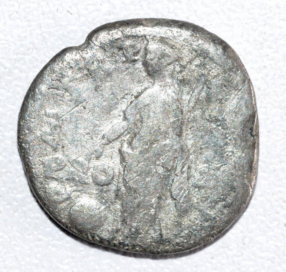 Ancient Roman Silver Denarius of Emperor Trajan, rv. - 2