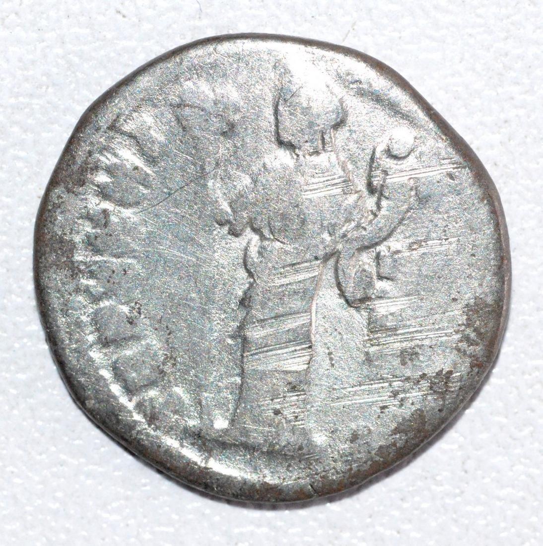 Ancient Roman Silver Denarius of Emperor Commodus, rv. - 2