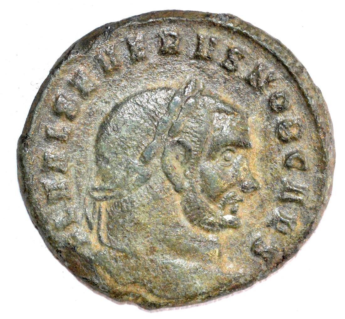 Rare Ancient Roman AE28 Copper Follis of Emperor