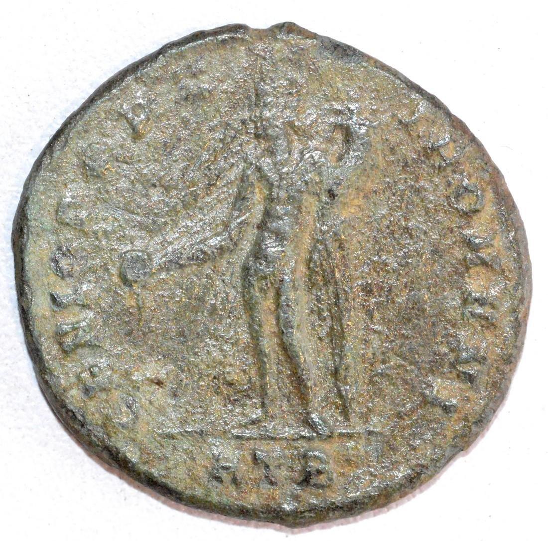 Rare Ancient Roman AE28 Copper Follis of Emperor - 2