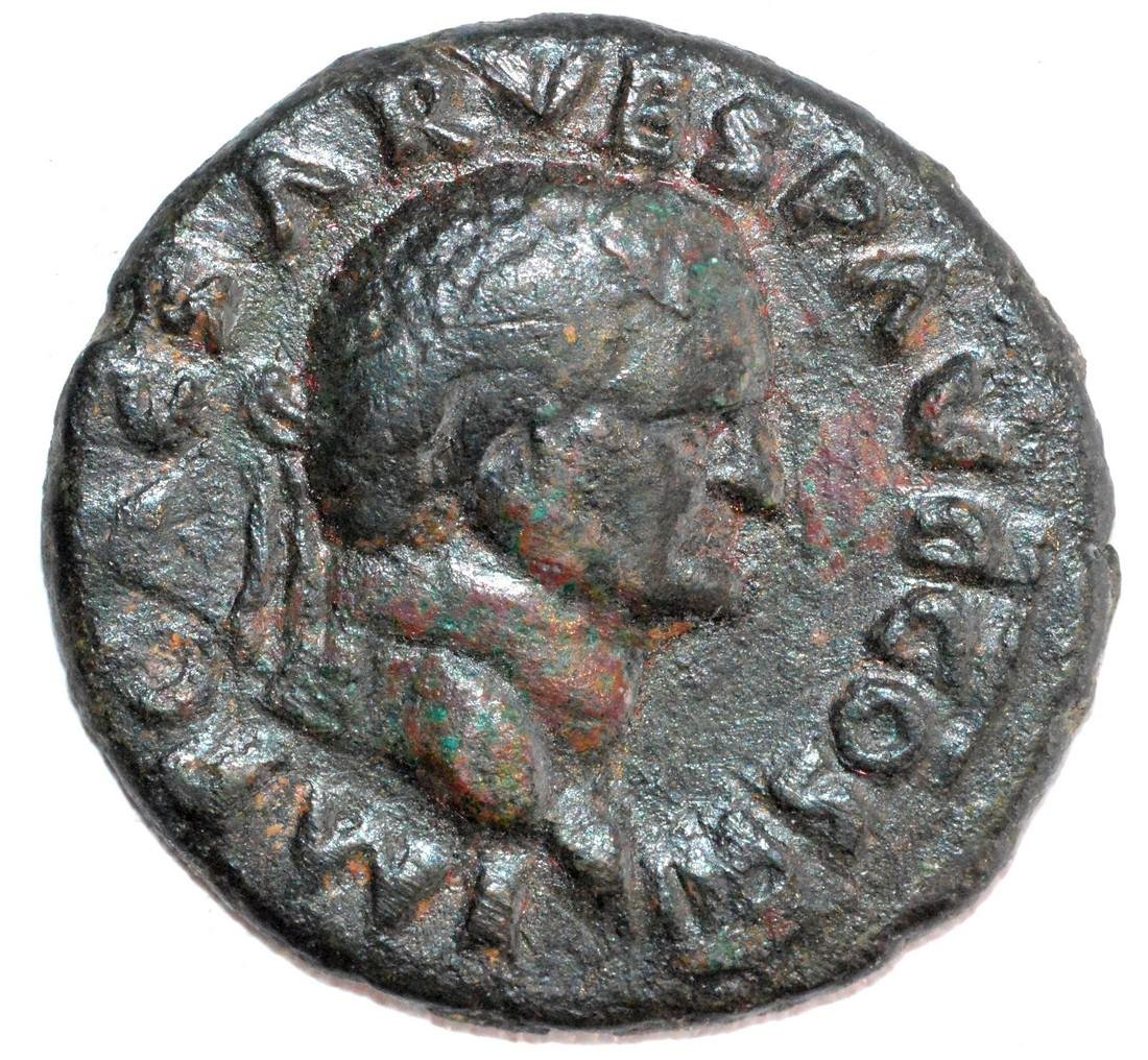 Ancient Roman Copper As of Emperor Vespasian, rv. Spes