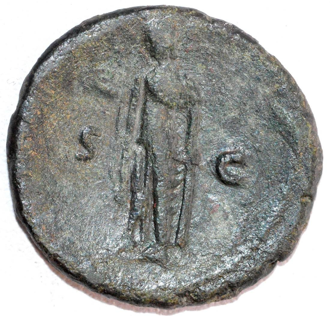 Ancient Roman Copper As of Emperor Vespasian, rv. Spes - 2