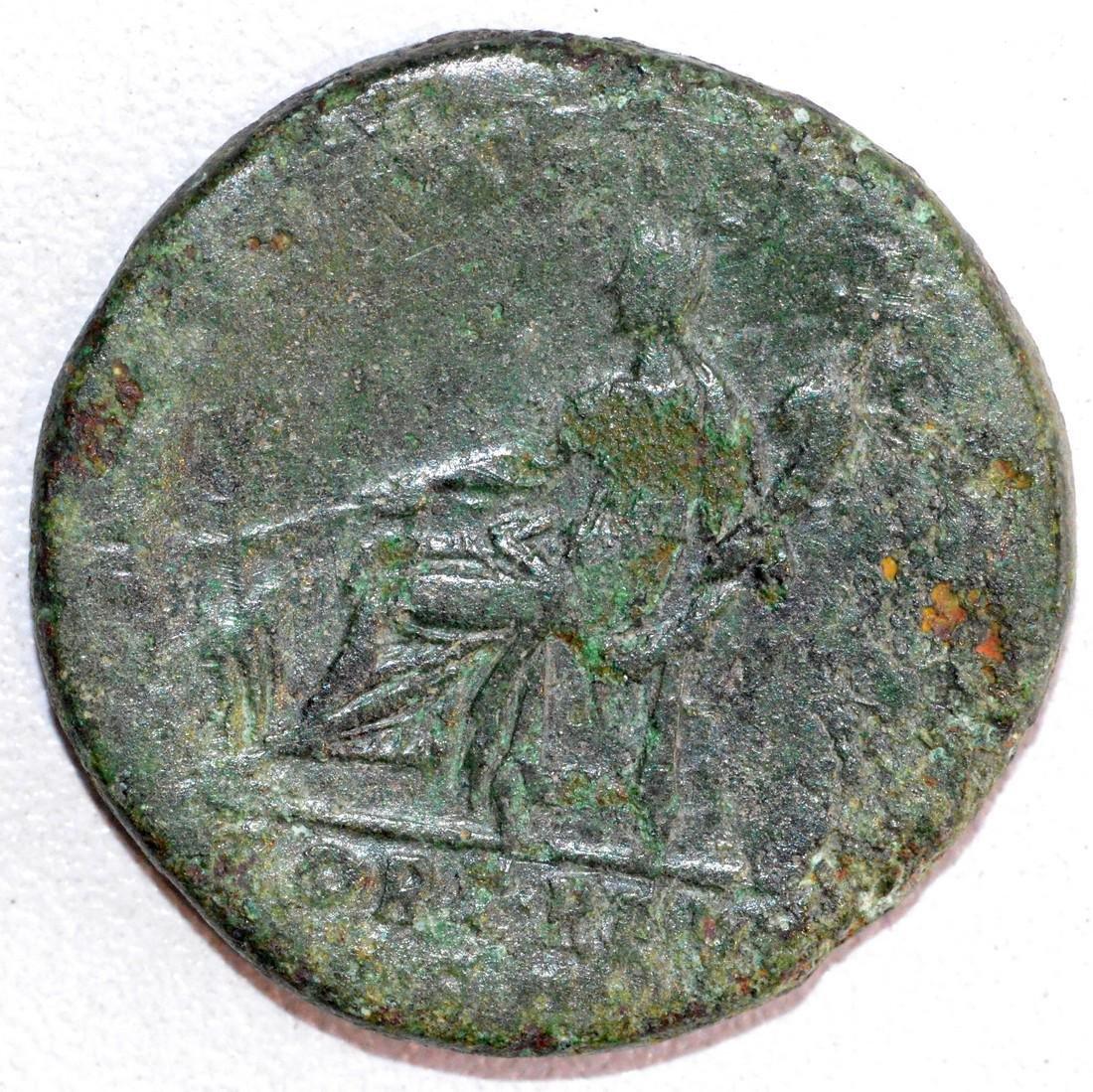Ancient Roman Bronze Dupondius of Emperor Trajan, rv. - 2