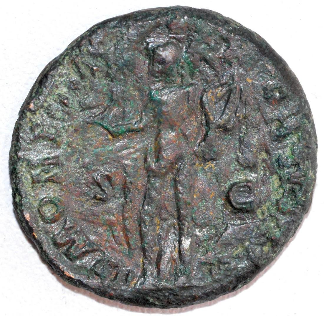 Ancient Roman Copper As of Emperor Domitian, rv. Spes - 2