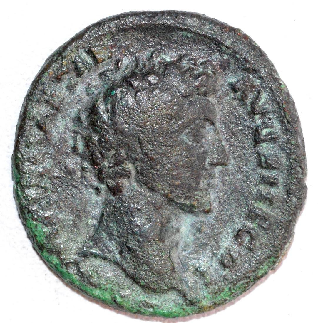 Ancient Roman Copper As of Emperor Marcus Aurelius, rv.