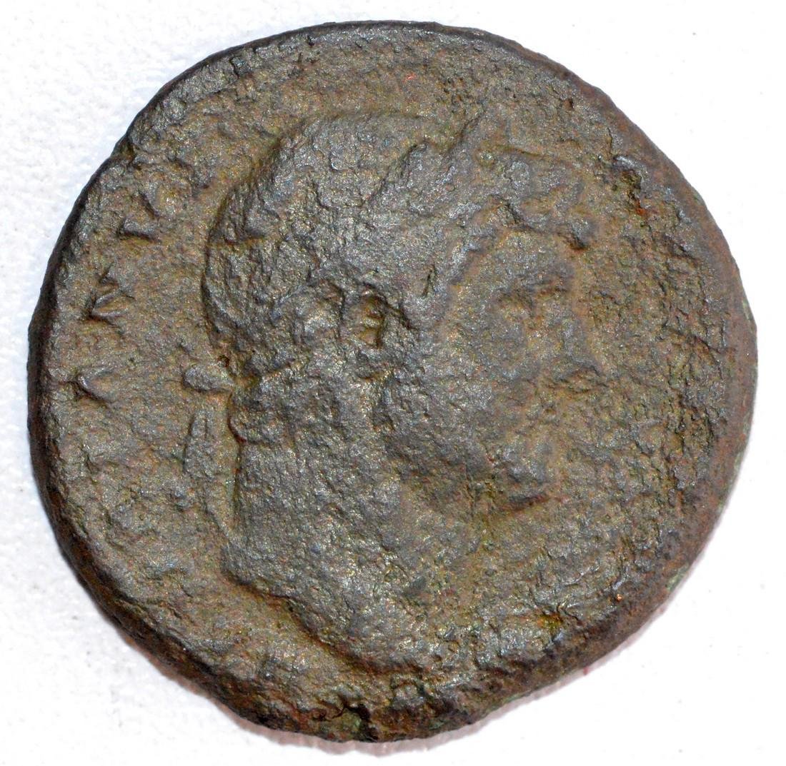 Ancient Roman Copper As of Emperor Hadrian, rv.
