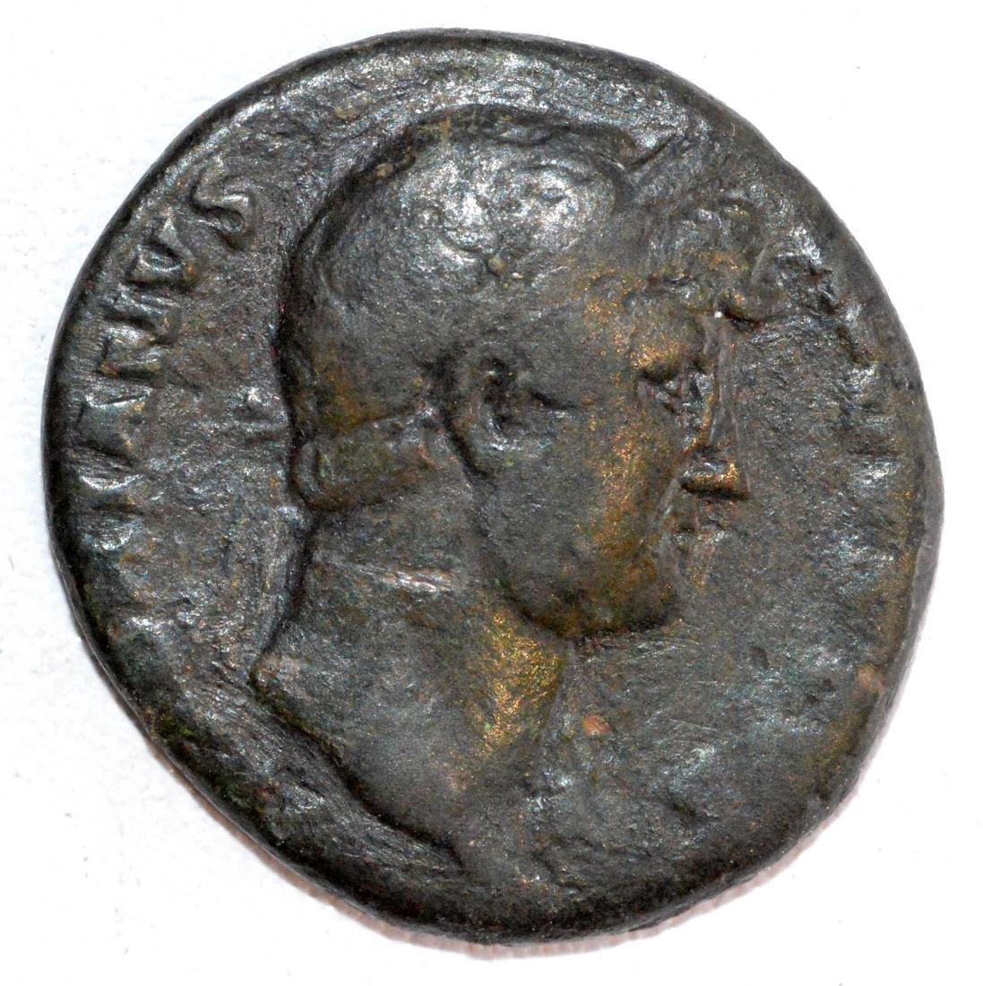 Ancient Roman Copper As of  Emperor Hadrian , rv.