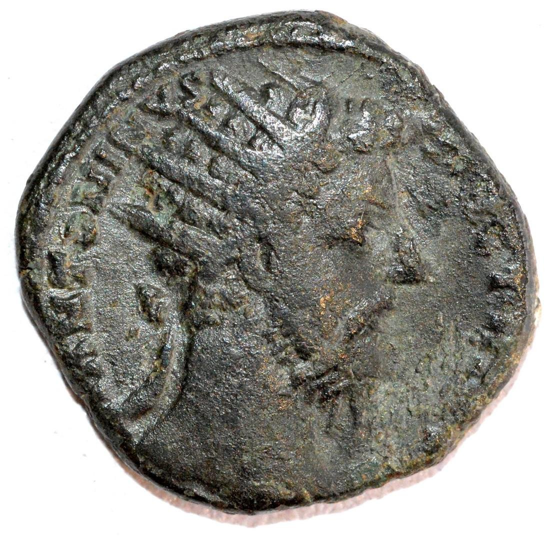 Ancient Roman Bronze Dupondius of Emperor Marcus