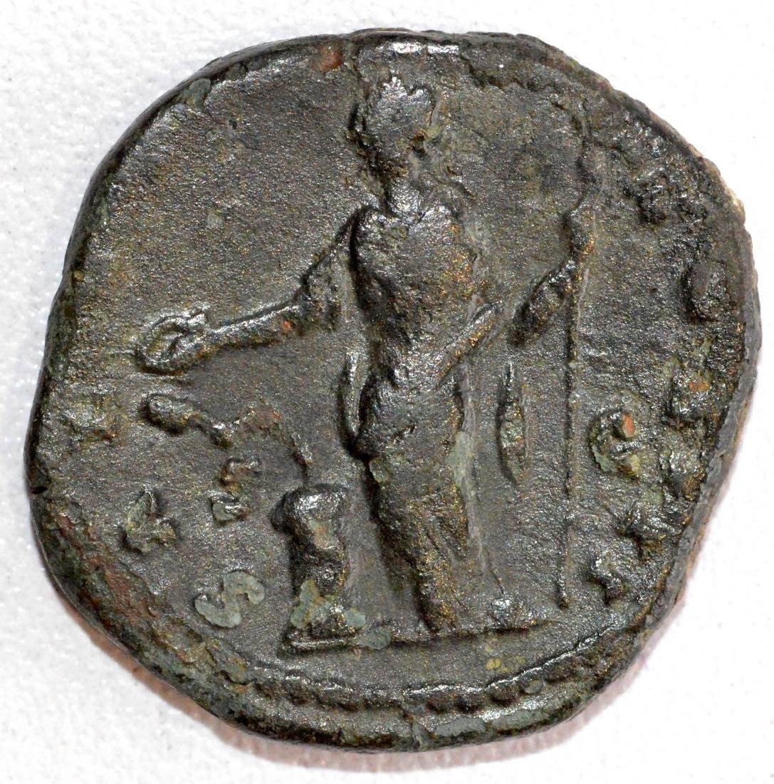 Ancient Roman Bronze Dupondius of Emperor Marcus - 2