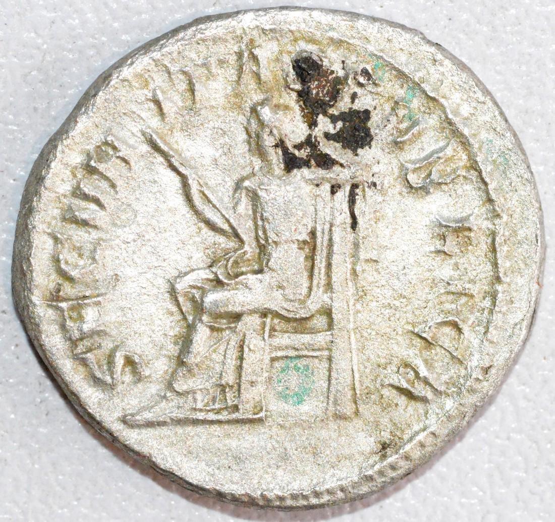 Ancient Roman Silver Denarius of Emperor Gordian III, - 2