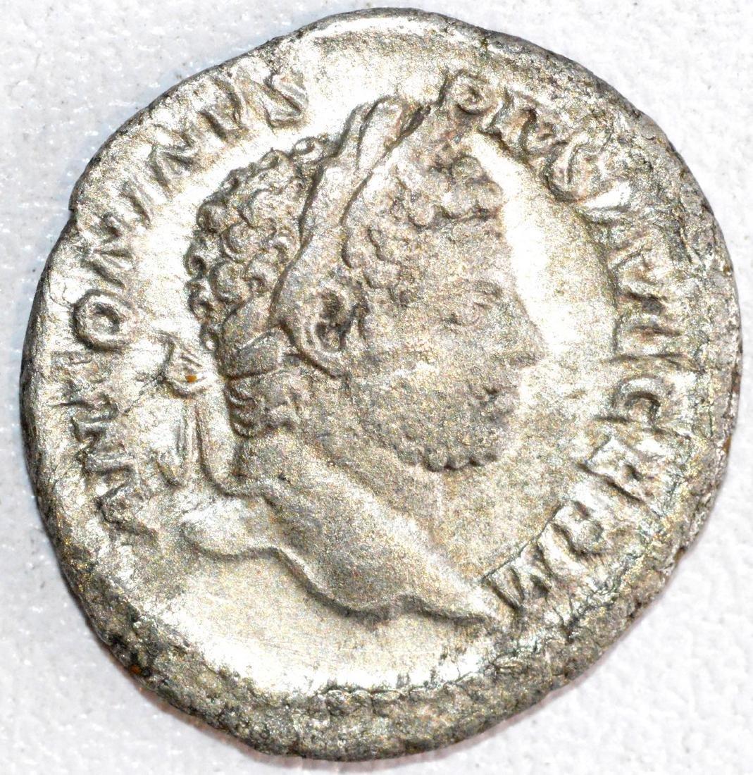 Ancient Roman Silver Denarius of Emperor Caracalla, rv.