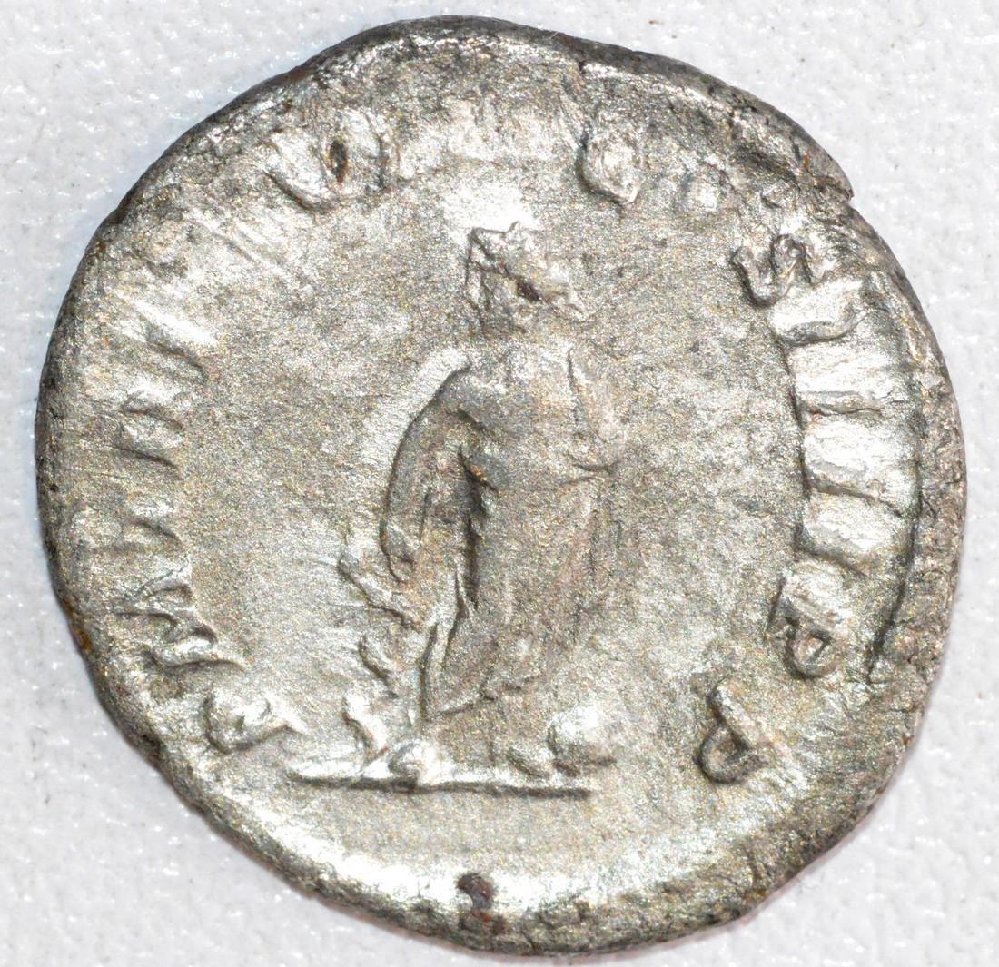 Ancient Roman Silver Denarius of Emperor Caracalla, rv. - 2