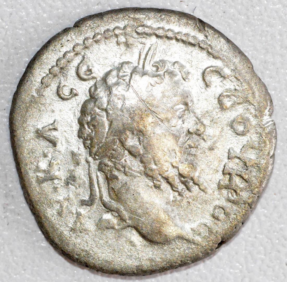 Rare Roman Silver Drachm of Emperor Septimus Severus,