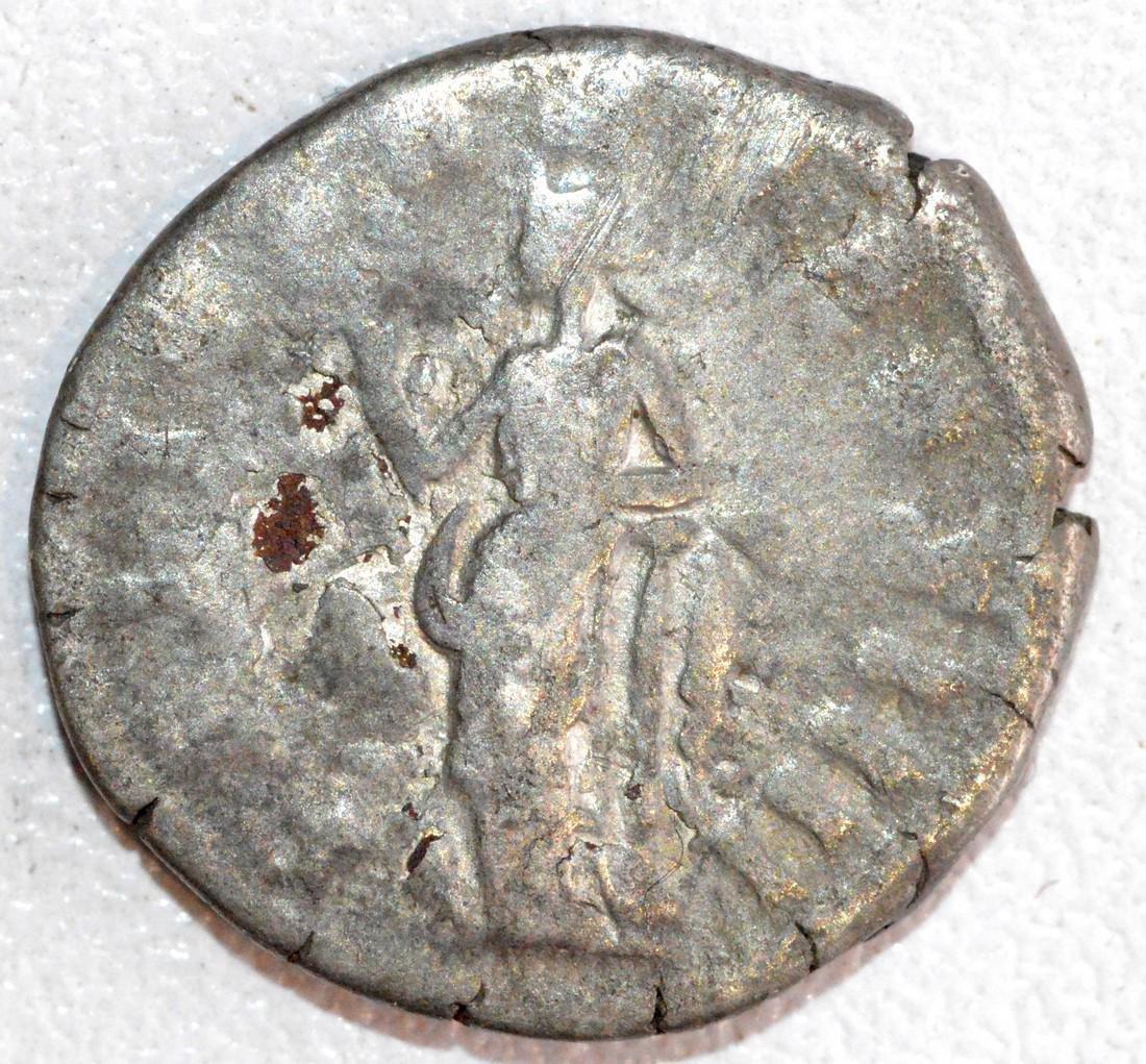 Ancient Roman Silver Denarius of Emperor Antoninus Pius - 2