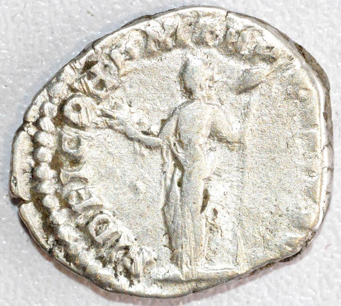Ancient Roman Silver Denarius of Emperor Commodus, Rv. - 2