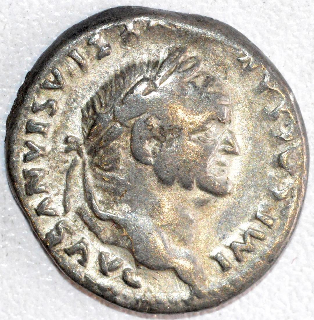 RARE Roman Silver Denarius of Emperor Vespasian, Rv.