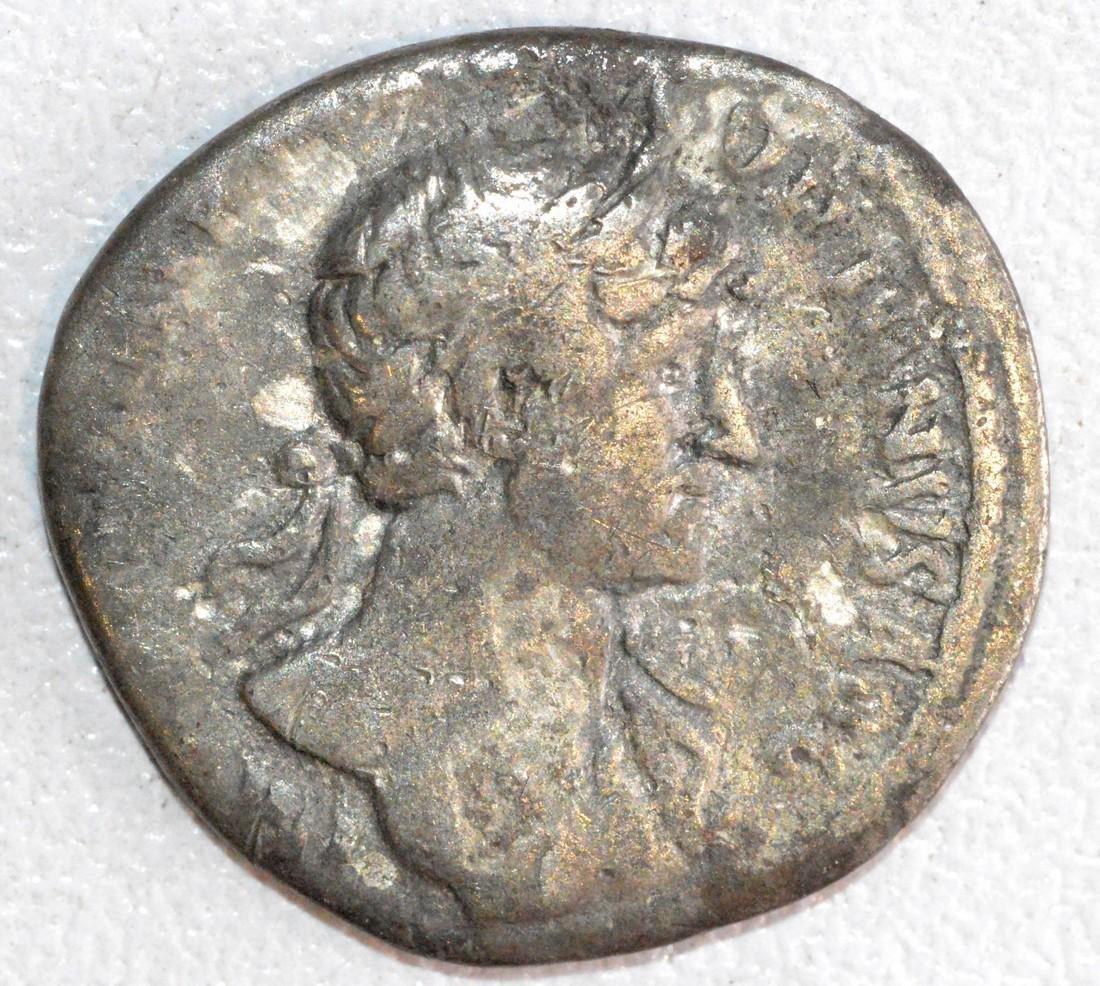 Ancient Roman Silver Denarius of Emperor Hadrian, Rv.