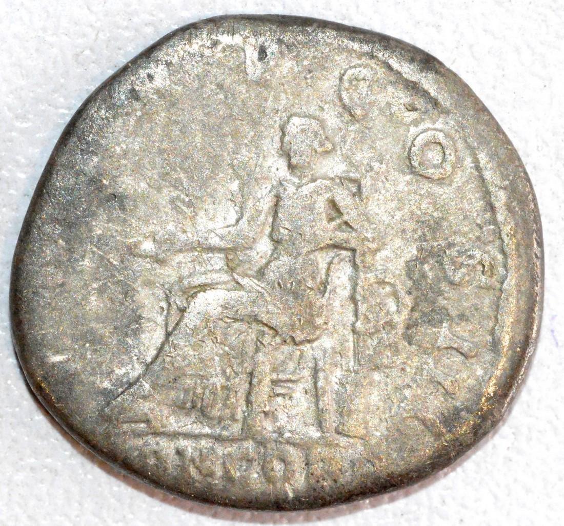 Ancient Roman Silver Denarius of Emperor Hadrian, Rv. - 2
