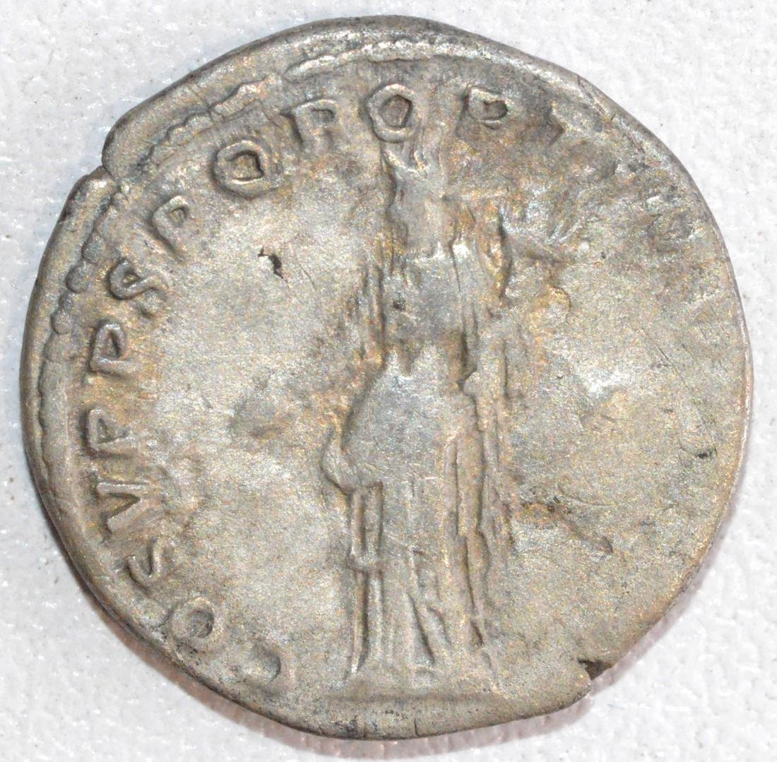 Ancient Roman Silver Denarius of Emperor Trajan, Rv. - 2