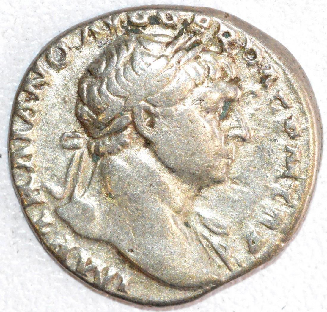 Ancient Roman Silver Denarius of Emperor Trajan, Rv.